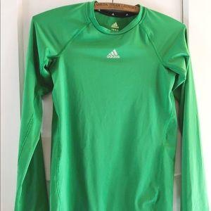 Adidas Kelly Green Long Sleeve ClimaCool
